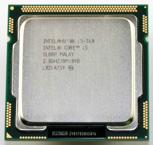 Intel Core i5 760 Quad-Core SLBRP 2.80 GHz L3 8 M Processeur Socket 1156 CPU d'occasion  Livré partout en France
