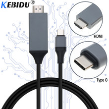 kebidu 2M Type C to HDMI Cable USB 3.1 to HDMI 4K High Speed Adapter Cables USB-C for MacBook Pixel ChromeBook for Samsung S8 TV(China)