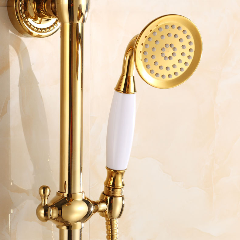 Bathroom Faucets Sets gold-plated-rainfall-shower-sets-3-function-shower-head-brass-bath-faucets