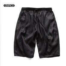 2017 neue Sommer Mens Short Beiläufige Hose Hohe Qualität 100% Leinen Lose Hosen Einfarbig Männlichen Street Fashion Hose
