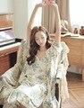 3 Шт. Костюмы Женщин Пижамы Пижамы Рубашки Халат Сна Женское Белье Главная Костюм SQ87
