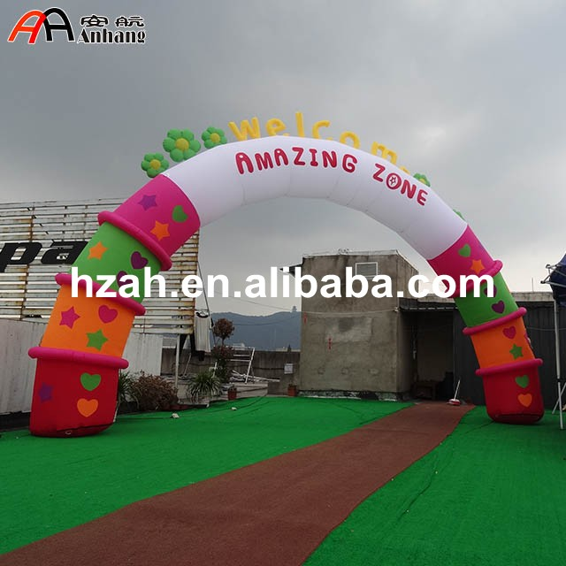 Welcome Inflatable Flower Arch for Park Decoration муфта под приварку сду м