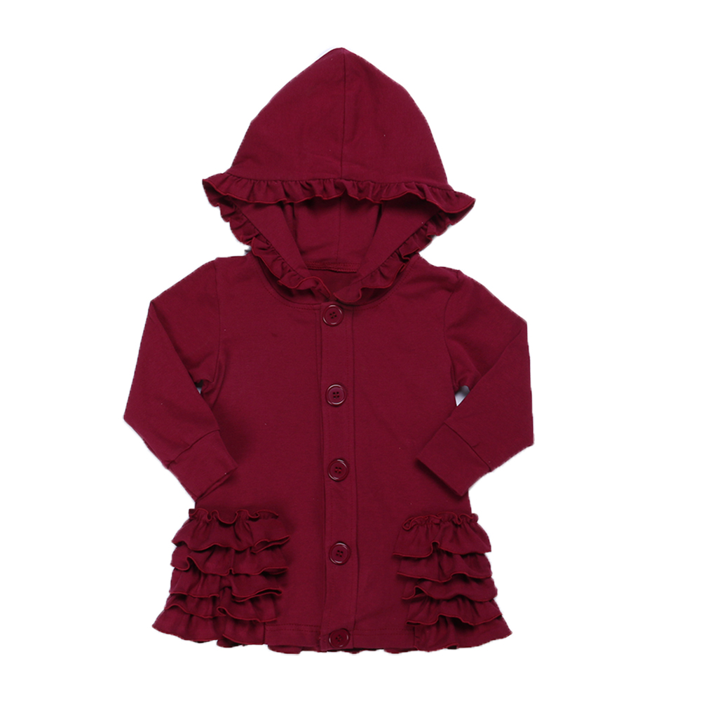 MUDBALA Boutique Toddler Teen Girl Ruffle Hooded Jacket Western Girl 100 Cotton Blank 5 layer Ruffled Spring Fall Coat in Jackets Coats from Mother Kids