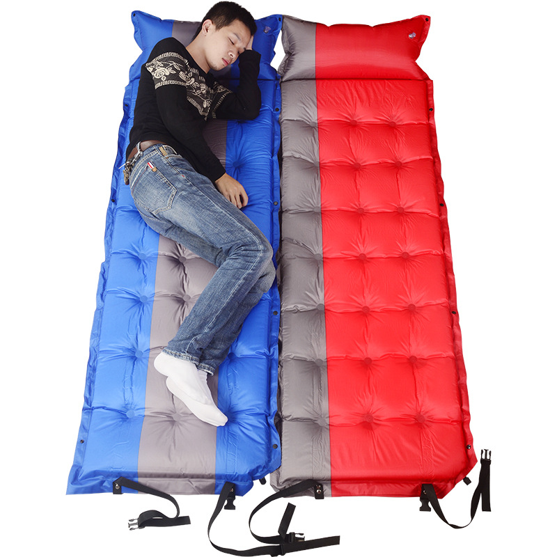 Self Inflating Thicken Sleeping Mat Inflatable Mattress Moisture Proof Pongee Fabric Tent Outdoor Beach Camping Bed