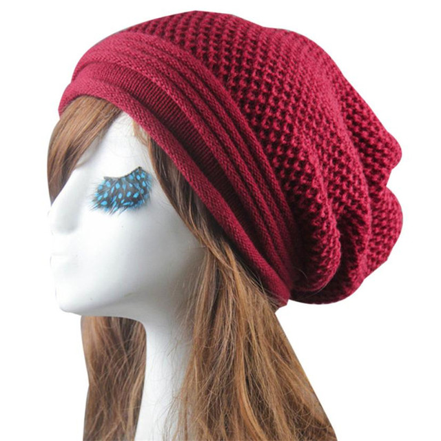 Knit Winter Warm Women Men Hip-Hop Beanie Hat Baggy Unisex Ski Cap Skull Hot dad1a3396eb0