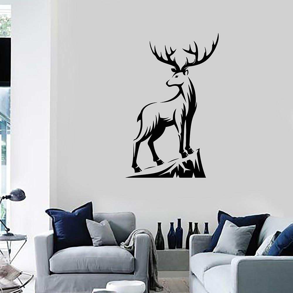 Deer Hunting Club Shop Animal Tribal Vinyl Wall Decal Home Decor Diy Art Mural Wallpaper Removable Stickers