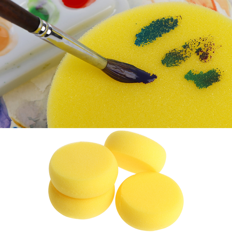 2018 New Round Painting Sponge For Art Drawing Craft Clay Pottery Sculpture Cleaning Tools Painting Supplies Art Set Crafts