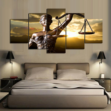 Unframed 5 Piece Canvas Painting The Image of Themis Goddess of Justice HD Prints Home Decor Wall Pictures for Bedroom