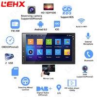 LEHX 2 din автомобиль Android 8,0 gps навигация Bluetooth для Nissan VW Toyota peugeot WiFi мульти медиа 7 дюймов автомагнитолы плеер RDS
