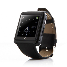 Smartwatch U10L Bluetooth smart uhr Android wear touch armbanduhr mit kompass hohe qualität Aus Echtem Leder Intelligente Uhr