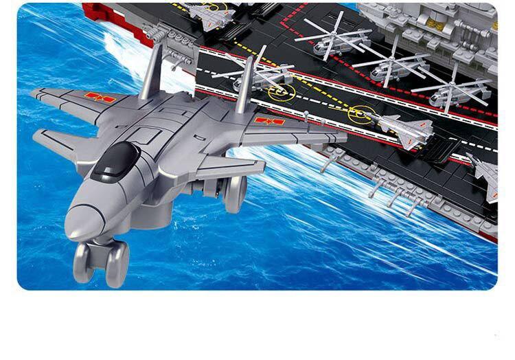 Marque 1059 pièces blocs de construction porte-avions 1:450 modèle jouets enfants éducatifs bricolage briques créatives jouet pour cadeau de garçon - 3