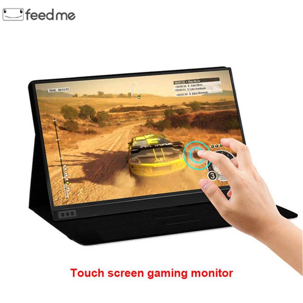 Monitor de Tela Sensível Ao Toque de 15.6 polegada Tipo C Dispaly Portátil Ultrafino 1080P IPS HD USB para o portátil do telefone Interruptor XBOX e PS4
