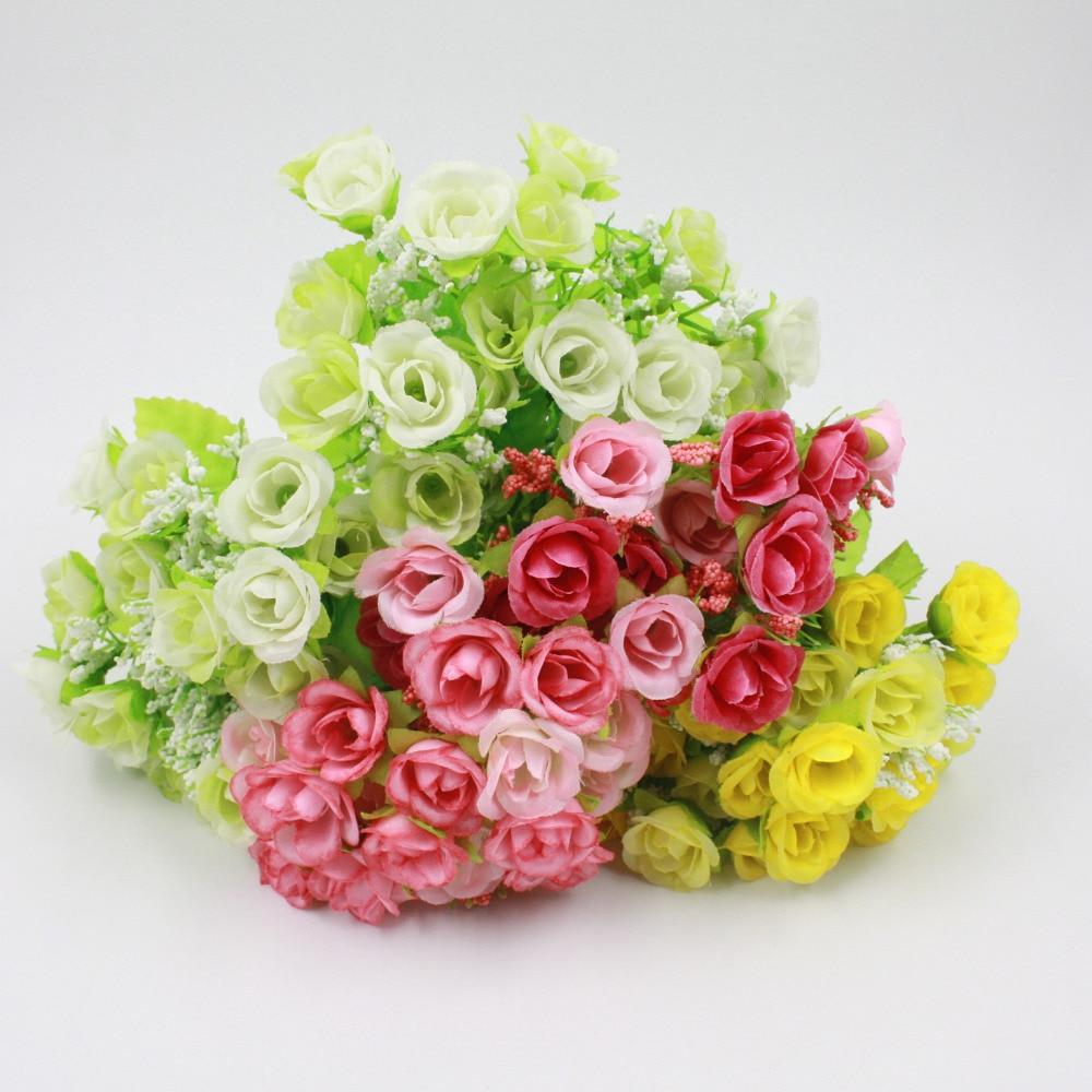 21 Heads Rose Silk Artificial Flower Bridal Bridesmaid Hydrangeas