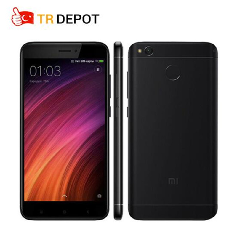 D'origine Xiaomi Redmi 4X Smartphone 2 GB 16 GB 4100 mAh Snapdragon 435 Octa base D'empreintes Digitales ID FDD LTE 5 720 P MIUI 8.2 Mondial Rom