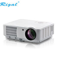 Full HD Led Projector Rigal RD 804 1280X800 HD 1080P LED 3D Projector Home Theater Projektor