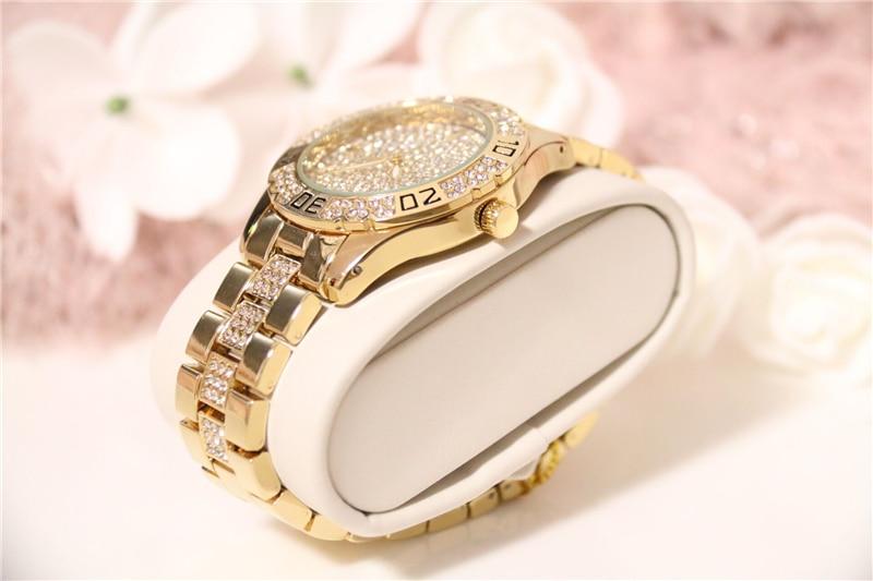 Dress Women Watches Stylish Crystal Rhinestones Quartz Wristwatch Lady Party Bracelet Bangle Relogio Casual Watch Ladies Watch 6