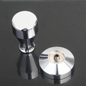 Image 3 - 51mm מוצק נירוסטה כבד שטוח מצופה בסיס קפה Tamper עבור אספרסו DIY ידני קפה שעועית טחנת עיתונות קפה מטחנות