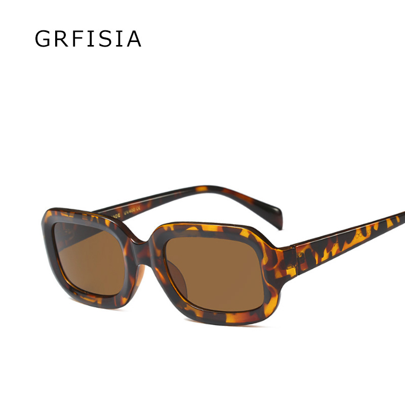 GRFISIA Fashion Women Sunglasses Brand Designer Sexy Square Sun Glasses Women Black Frame Travel UV Shades Female 2018 Gift G227