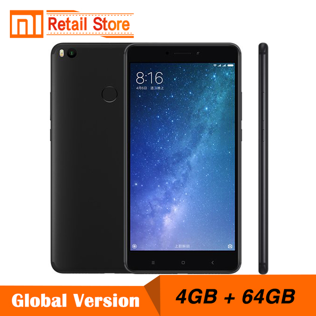 "Оригинал Сяо Mi Max 2 4 ГБ Оперативная память 64 ГБ 6.44 ""Snapdragon 625 Octa Core мобильный телефон Max2 12.0MP Камера IMX386 5300 мАч battary"