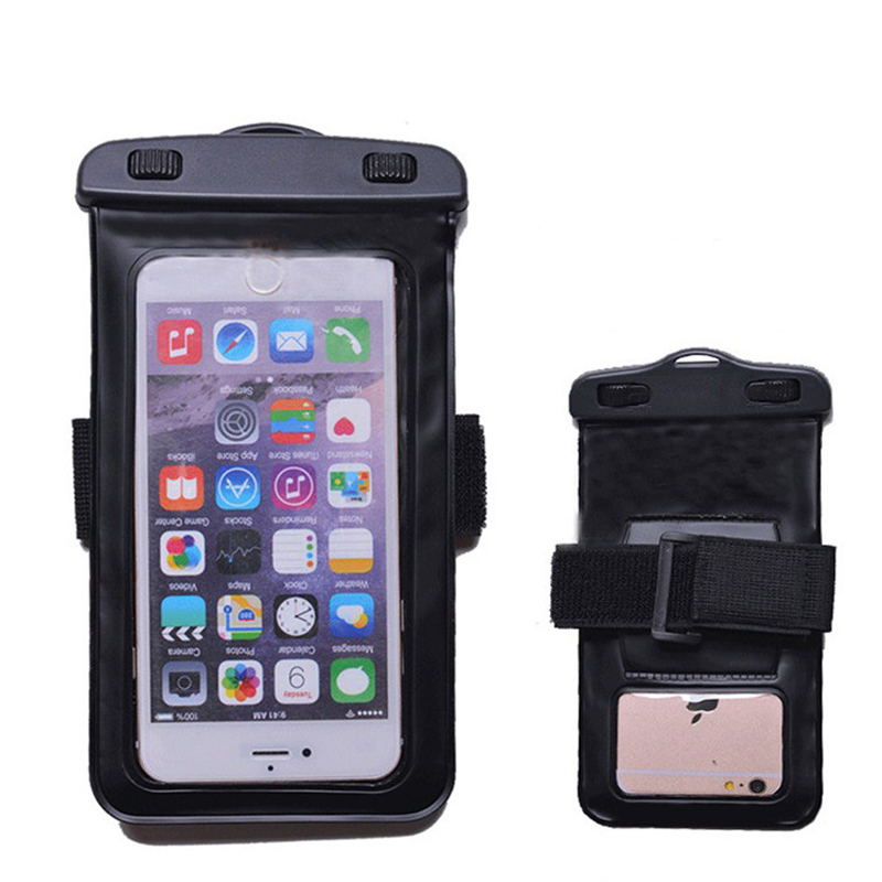 Armband Mobile Phone Waterproof Bag PVC Touch Screen Outdoor Swimming Diving Travel Cover