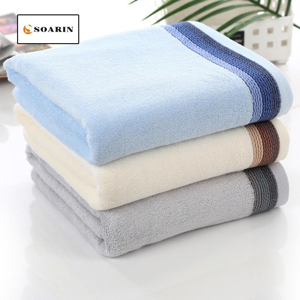 SOARIN Solid Bamboo Fiber Jacquard Face Towel Bathroom Bamboo Towels Strandlaken Toalha For Adults Handdoeken Strandlaken Plage
