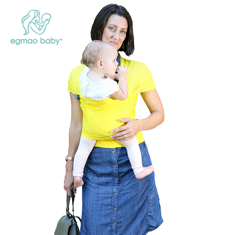 Comfortable Baby Wrap Baby Carrier Breathable Mesh Fabric For All Seasons, Soft Carrier Baby Sling (for 0-18 Months)
