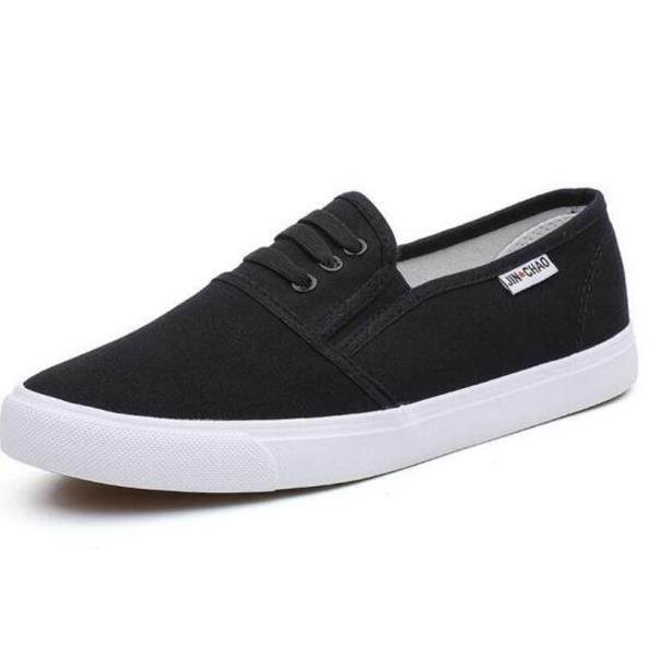 New High Quality Men's Vulcanize Shoes Breathable Spring Summer Men Casual Canvas Shoes Slip-On Flat Shallow Men Sneakers new women s vulcanize shoes spring summer slip on sneakers black casual shoes women breathable hollow out woman sneakers