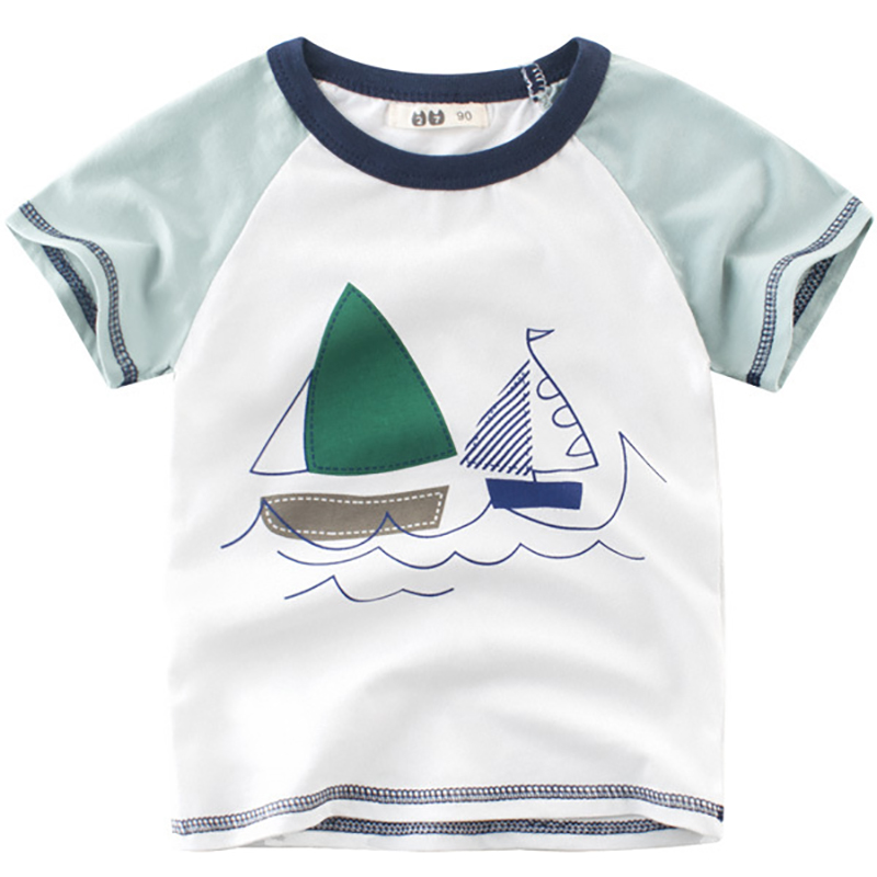 Baby Boy Girl Cartoon Car Print Pullover Tops Long Sleeves T-Shirt Blouse Casual Undershirt Outfits Toddler O Neck Sweatshirt Autumn Clothes for 1-7 Years Old Kid