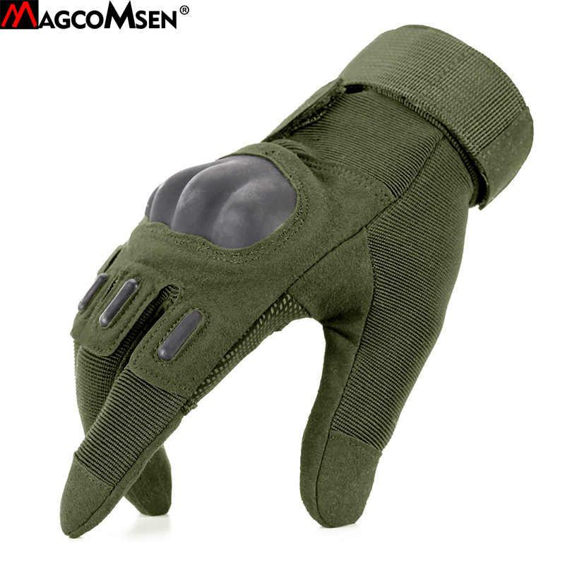 MAGCOMSEN перчатки мужские зимние тактические перчатки полный палец защитный долговечный, в стиле милитари армейские перчатки для страйкбола Пейнтбол AG-YWHX-031