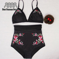 High Waist Swimsuit Women Floral Bikini Set Padding Push Up Bikinis NK58