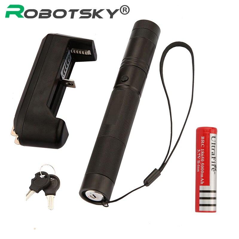 10000 mw laser pointer pen messa a fuoco regolabile fiammifero acceso Per Il Tempo Libero 303 con chiave 18650 Battery + charger per 5000-10000 metri laser verde