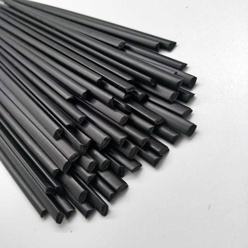 PP Plastic welding <font><b>rods</b></font> (<font><b>3mm</b></font>) black, pack of 40 pcs /triangular shape/welding supplies image