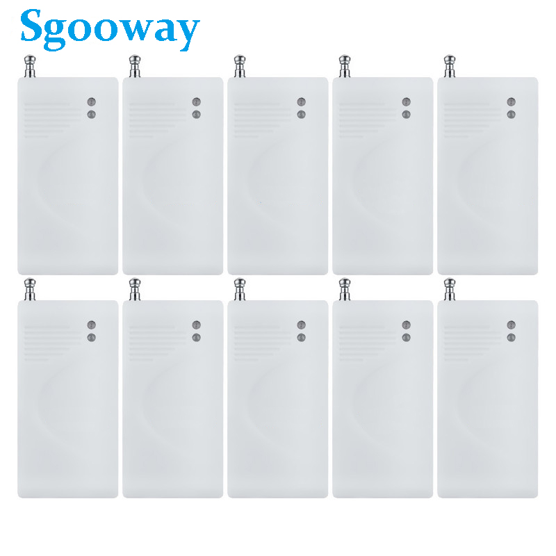 Sgooway 10 Pieces Wireless Shock Detector Vibration Sensor Alarm Detector For Alarm System