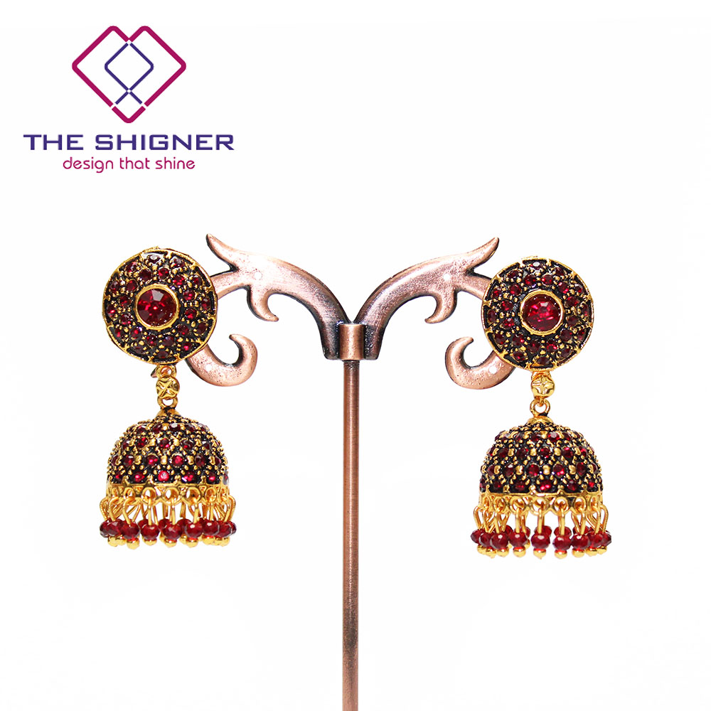 THE SHIGNER Indian Tradition Jewelry Bombay Fashion Stylish Party Wear Gold  Color Crystal Pearl Jhumki Jhumka Dangle Earrings-in Drop Earrings from  Jewelry ... d032be7f5236
