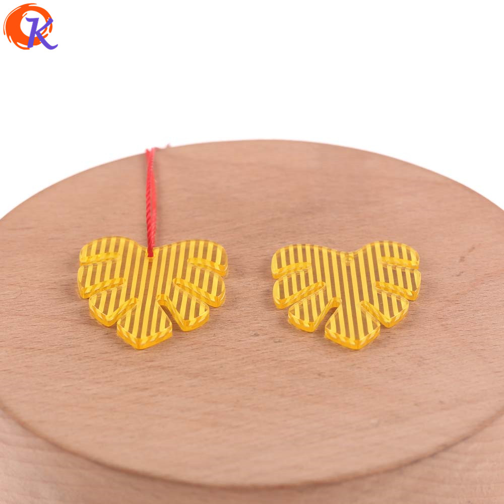 Image 2 - Cordial Design 25*28mm 100Pcs Jewelry Accessories/Earring Connectors/Leaf Shape/DIY Jewelry Making/Hand Made/Earring FindingsJewelry Findings & Components   -