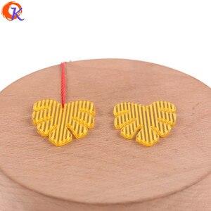 Image 2 - Cordial tasarım 25*28mm 100 adet takı aksesuarları/küpe bağlar/yaprak şekli/DIY takı yapımı/El yapımı/küpe bulguları