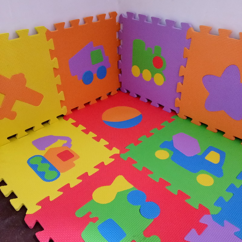 10PCS Pack Baby EVA Mat Baby Floor Mat Transport Animal Fruit EVA Foam Mat 30x30cm Mosaic Floor Play Mats PX10 ...