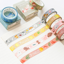 24 pcs/Lot Strawberry Longan stickers Fruit & Animal masking tape Decoration adhesive Strawberry stickers Stationery FJ019 strawberry