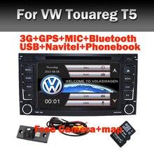 2 din 7 de polegada de DVD Do Carro VW Touareg Multivan T5 (2002-2010) GPS Radio RDS Bluetooth USB IPOD TV Canbus volante câmera Livre