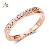 Peacock Star Matching 14K Rose Gold Women Wedding Band Ring 0.14 Ct Diamonds