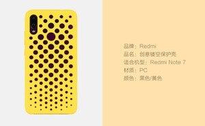 Image 5 - מקורי xiaomi redmi note 7 מקרה כיסוי note7 מט קשיח מחשב מגן לנשימה backhole מקרה coque redmi note 7 פרו כיסוי