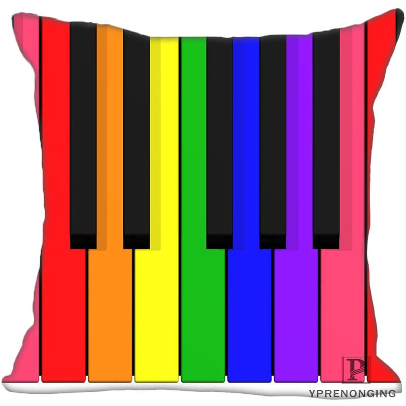 Custom Pillowcase Musical Instruments Square Zippered Pillow Cover35X35,40x40,45x45cm(One Side)180522-02-26