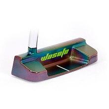 Masculino eixo de aço direito cor preta clubes golfe putter frete grátis