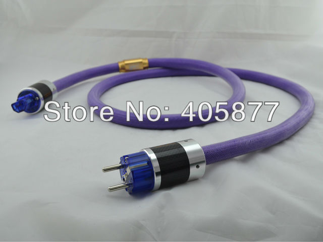 Limited Edition LE2 10 EU Schuko power cable with carbon fiber power plug