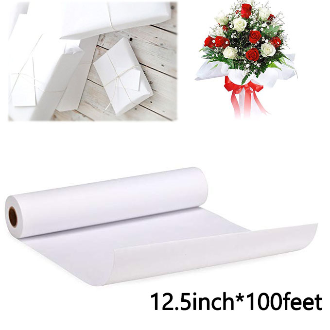 12 5inch 100feet white Kraft Paper Ideal for Gift Wrapping Art Craft Packing Shipping Covering Writing roll stationery paper in Stationery Stickers from Office School Supplies