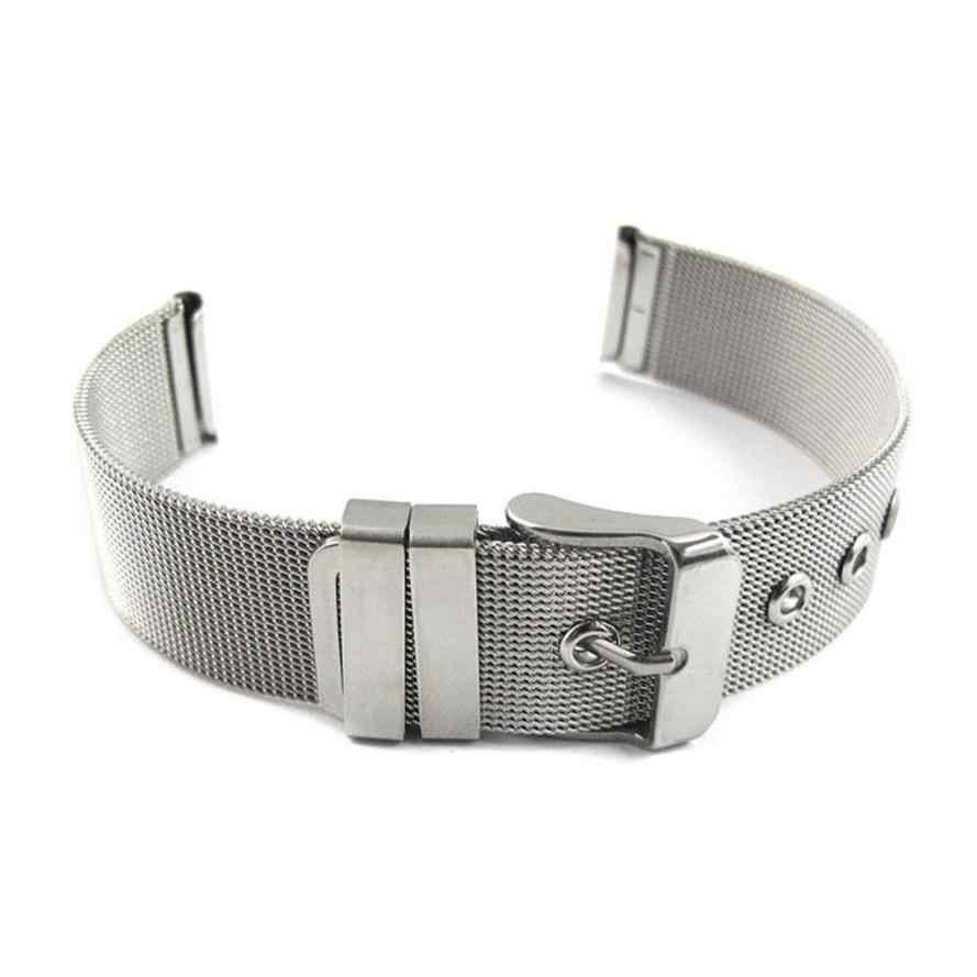 באיכות גבוהה רצועת השעון 18mm אופנה נירוסטה רשת שעון להקת כסף Dec22