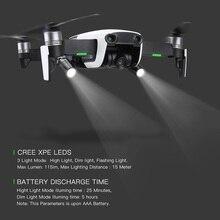 2 adet Drone gece uçuş led ışık fotoğraf dolgu ışığı el feneri için 360 derece rotasyon DJI mavic hava Drone aksesuarları