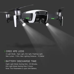 Image 1 - 2pcs Drone Night Flight LED Light photography Fill light Flashlight 360 degrees rotation For DJI mavic air Drone Accessories