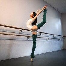Женские акриловые носки для йоги, стандартный осенне-зимний вязаный сплошной цвет дышащий Носки для женщин, для занятий йогой в помещении