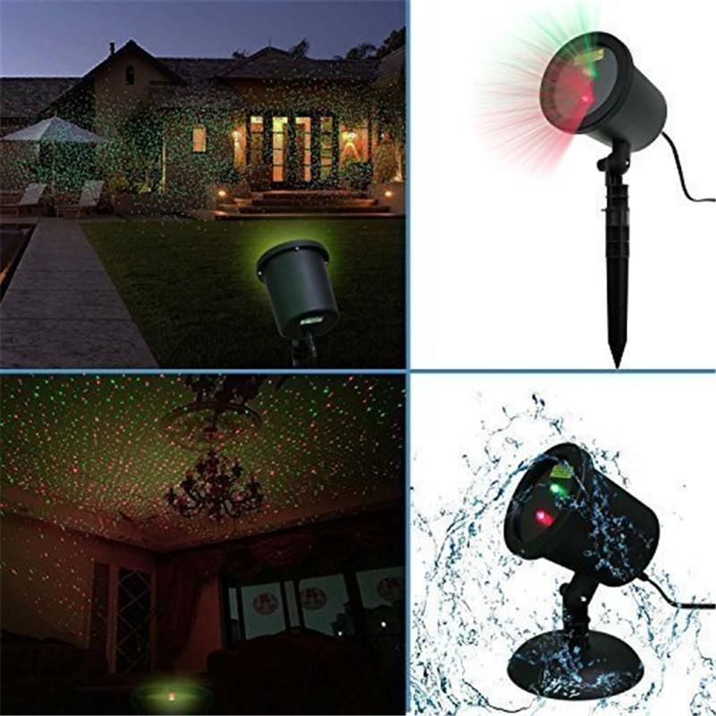 Waterproof Red &Green Laser Light Landscape Spotlights  (1)